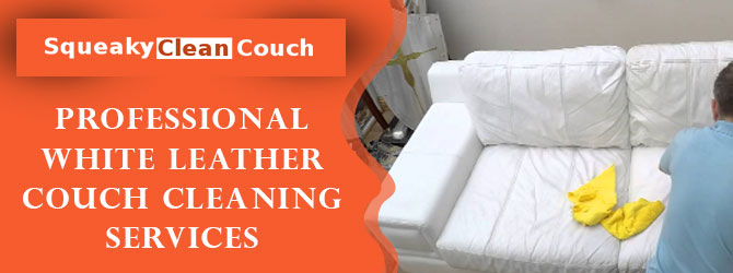 Professional White Leather Couch Cleaning Services